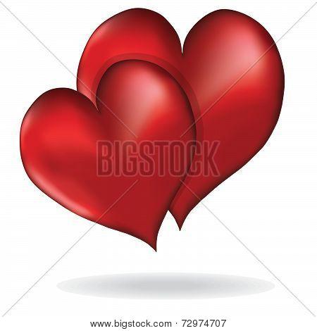 Hearts Symbol Of Love Vector Element Design Valentine's Day