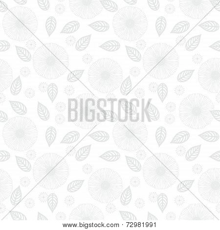 White floral texture in vintage style