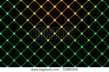 Dark Wired Fence Glowing Background
