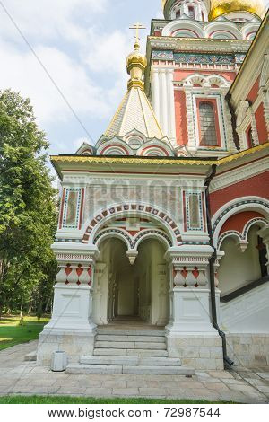 Entrance to the Cathedral Nativity of Christ on Shipka
