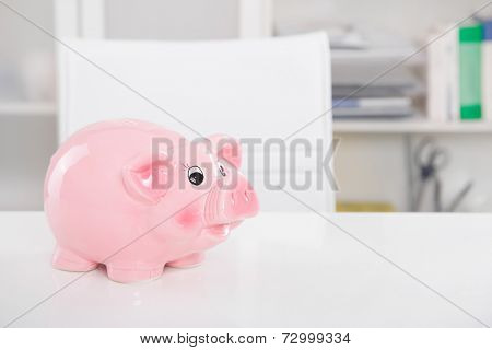 Piggy bank savings: Gone on holiday - background for money or saving concepts