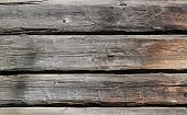 Weathered obsolete striped textured wooden planks background poster