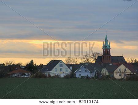 Evening Cloudscape Over Ottersleben