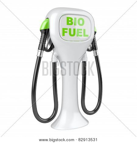 Bio Fuel Concept With Petrol Pump Machine.