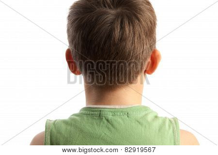 The Boy Standing A Back