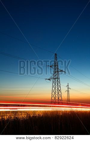 Pylons And Traffic
