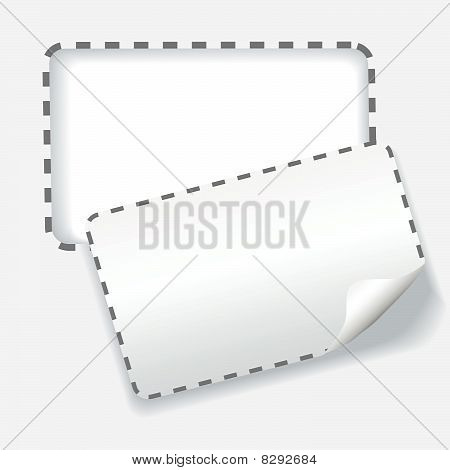 Cutout Rounded Coupon Dotted Line Background