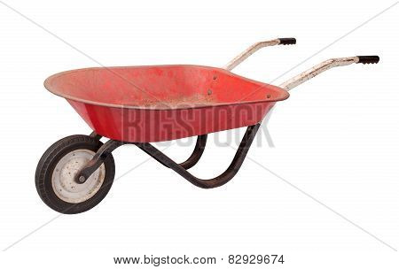Rusty Child's Wheelbarrow