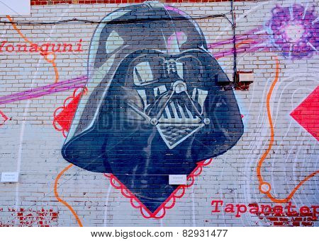 Street art Montreal Darth Vador