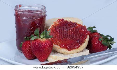 English Muffins & Strawberry Jams