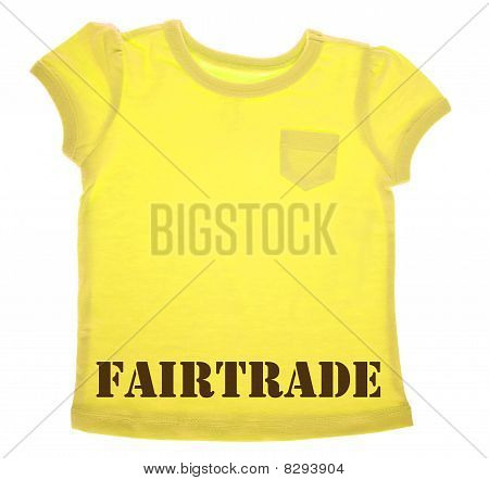 Yellow Tee Shirt With Fairtrade Message