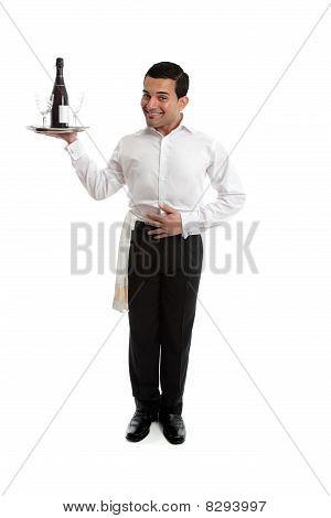 Smiling Waiter Or Bartender
