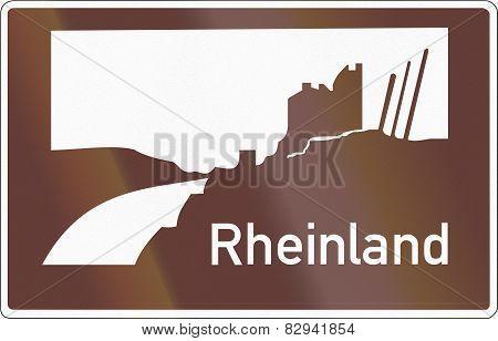 Tourist Sign Rheinland
