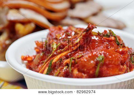 Kimchi (fermented cabbage) Korean Traditional Dish