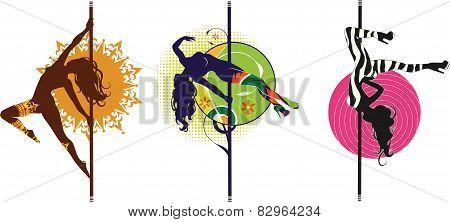 Pole dance logos