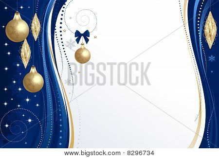 Background Christmas blue