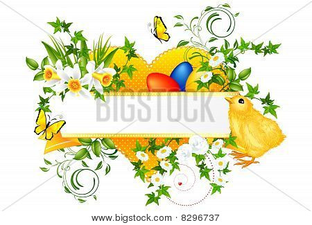 Easter decoration banner