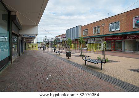 Empty Shops In An Abandoned Highstreet