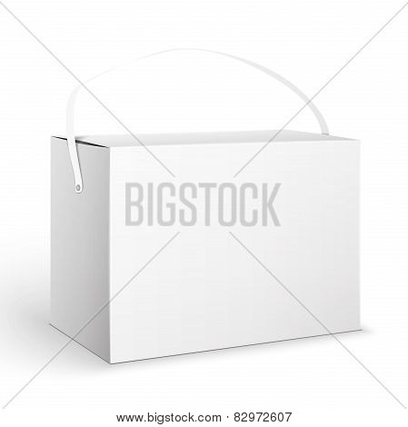 White Product Cardboard Package Box. Illustration Isolated On White Background. Mock Up Template Ready For Your Design. Vector EPS10 poster