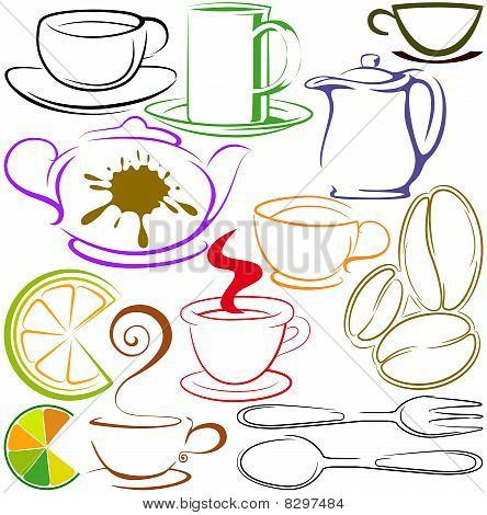 Cups And Teapots Contour