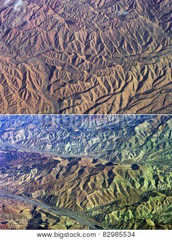 Desert with a bird's-eye view.