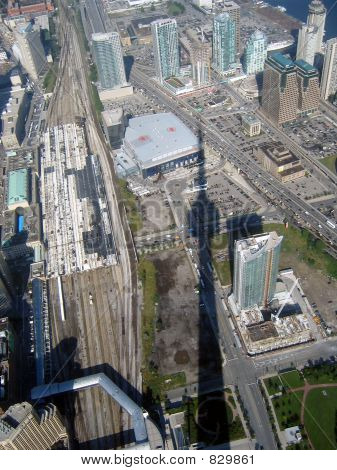 Shadow of CN Tower