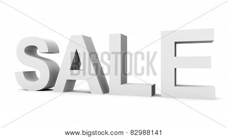 Sale - Gray 3D Letters Isolated On White