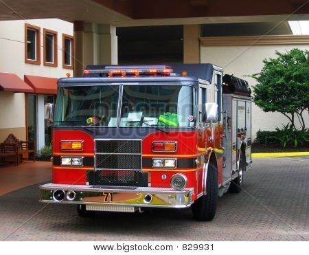 fire engine frontview