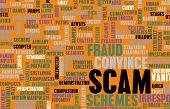Scam or Scams Online on the Internet as Concept poster