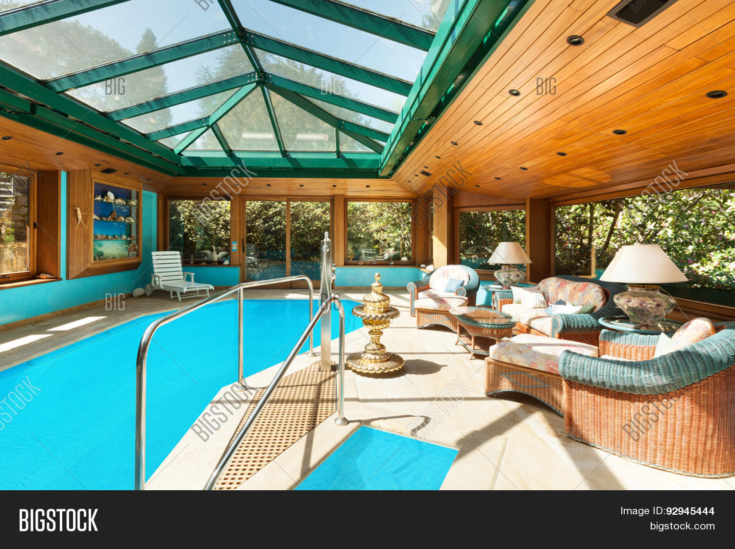 Interior residential house large image photo bigstock for Large skylights