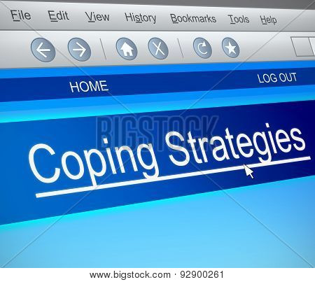 Coping Strategies Concept.
