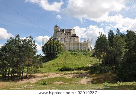 View Of Bobolice Castle In Poland