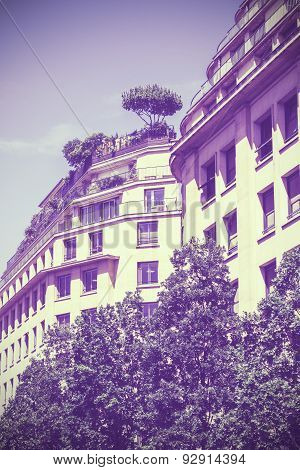 Vintage Old Film Stylized Apartment.