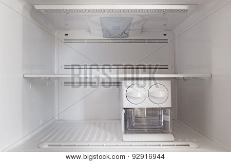An Empty Freezer Fridge