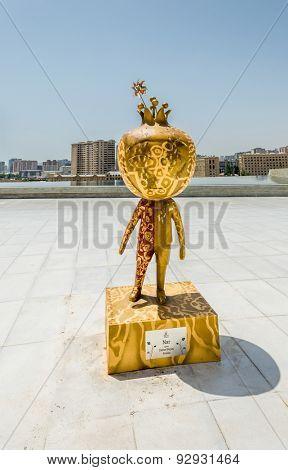 BAKU - MAY 10, 2015: Nar European Games Mascot on May 10 in BAKU, Azerbaijan. Baku Azerbaijan will host the first European Games