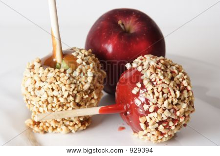 Candied, Carmel And Regular Apple.