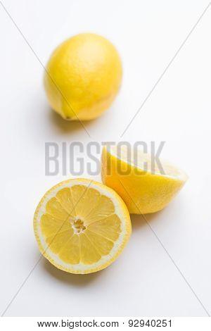 Cut lemon - isolated