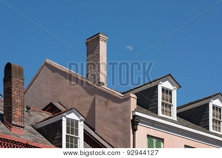Moon Over Roof
