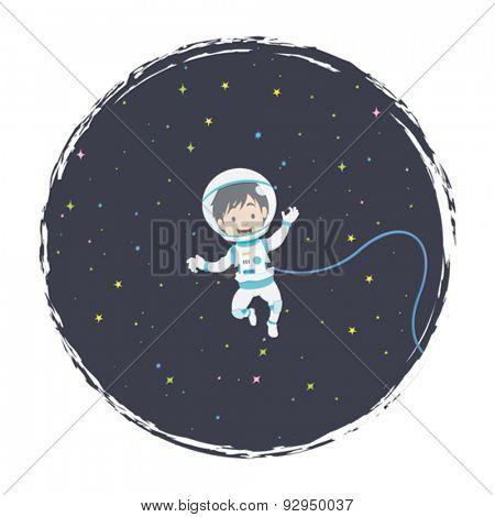 Little Astronaut Floating