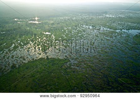 Aerial view of Marsh In Kakadu National Park