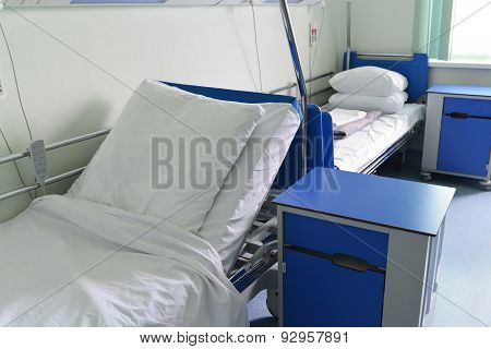 Hospital Beds In Hospital Ward