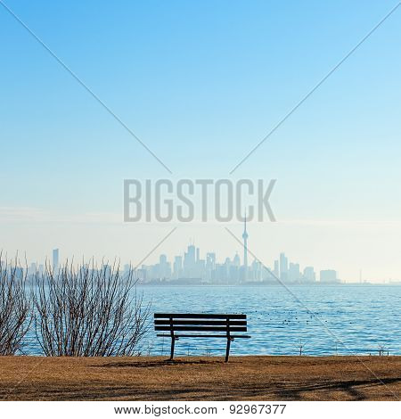 Toronto View Of Cn Tower And City Skyline