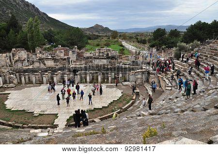 EPHESUS, TURKEY - October 27, 2010 at Ephesus, Turkey
