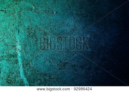 Green grunge wall. Abstract wall background.