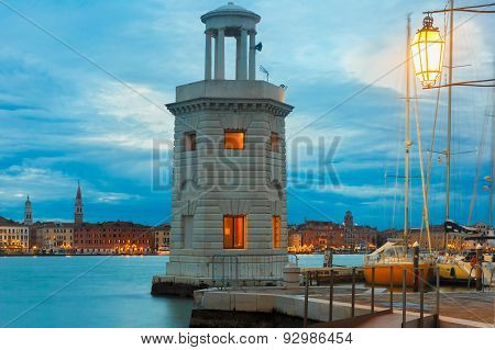 Lighthouse on island San Giorgio Maggiore, Venice