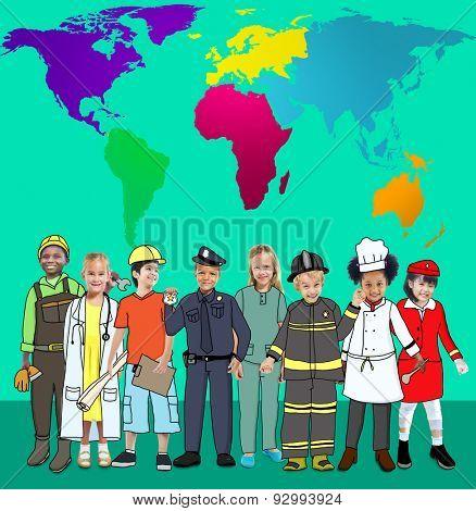 Global Globalisation World Map Environmental Conservation Concept poster