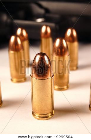 9mm Bullet Close Up