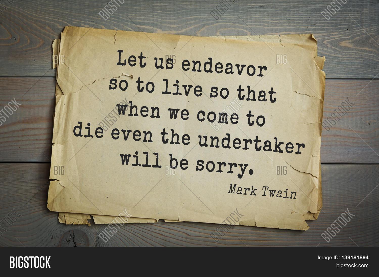 Us Stock Live Quote: American Writer Mark Twain (1835- Image & Photo
