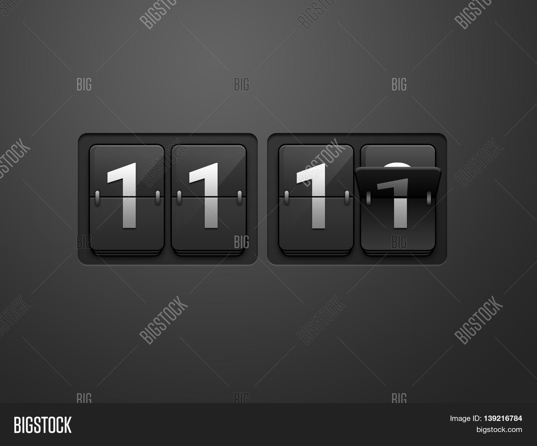 11:11 Time Flip Clock Image & Photo (Free Trial) | Bigstock