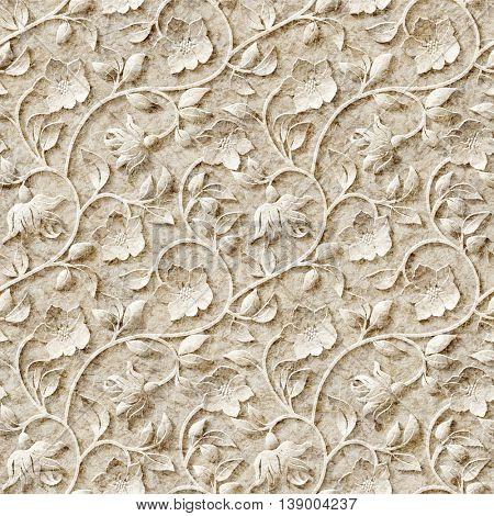 Seamless ornamental pattern.